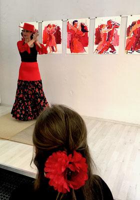 Mariebel Ximenz_ Flamenco_GEDOK Galerie_Latin Summer Letters