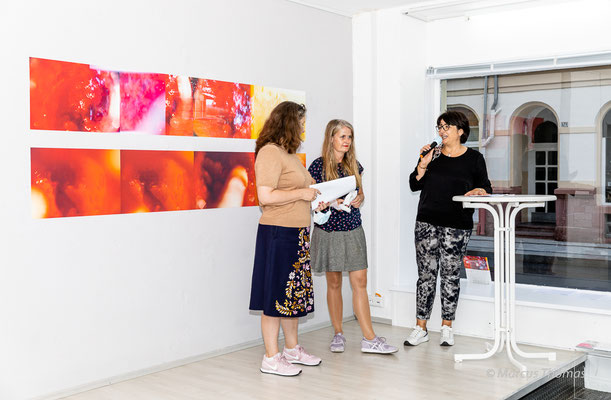 """Dr. Sabine Schlenker, Susanne Neiss, Sabine Schreier - Vernissage """"Sometimes"""" 9.11. - 16.10.2021 GEDOK Galerie Heidelberg"""