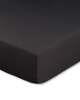 Spannbettlaken für Boxspringbetten, Farbe schwarz - Matratze und Topper können zusammen bezogen werden