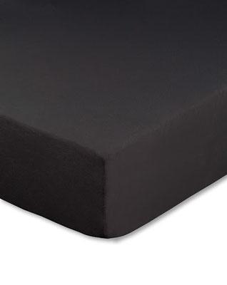 Spannbettlaken für Boxspringbetten, Boxspringbett beziehen in Farbe schwarz