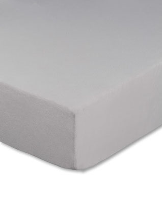 Spannbettlaken für Boxspringbetten, Farbe silber - Matratze und Topper können zusammen bezogen werden