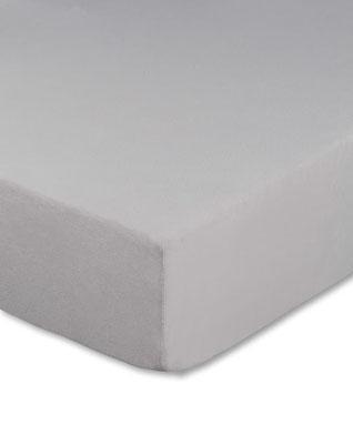 Spannbettlaken für Boxspringbetten, Boxspringbett beziehen in Farbe silber