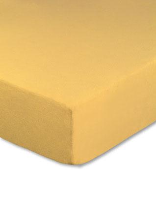 Spannbettlaken mit hohem Seitensteg in Farbe maisgelb