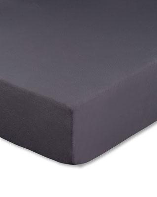Spannbettlaken mit hohem Seitensteg in Farbe anthrazit