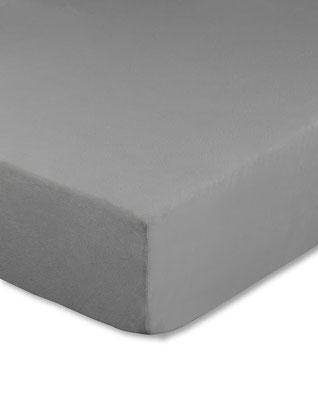 Spannbettlaken für Boxspringbetten, Farbe grau - Matratze und Topper können zusammen bezogen werden