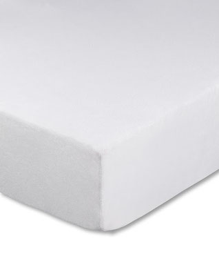 Spannbettlaken für Boxspringbetten, Boxspringbett beziehen in Farbe weiß