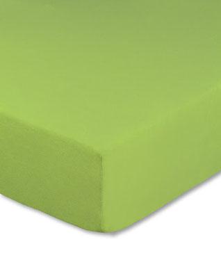 Spannbettlaken mit hohem Seitensteg in Farbe apfelgrün
