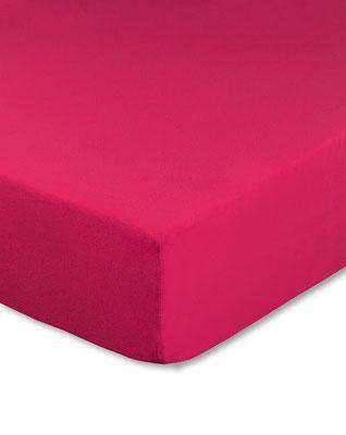 Spannbettlaken mit hohem Seitensteg in Farbe pink magenta