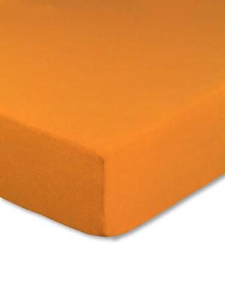 Spannbettlaken mit hohem Seitensteg in Farbe orange