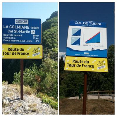Die Ankündigungen der Tour de France Etappen stehen schon da.