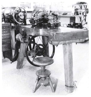 Historische Rundzug-Guillochiermaschine von 1792