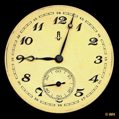 2. Zifferblattsignatur etwa ab 1930 (G-Uhr)