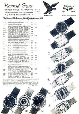 HAU Kurtz Nr.1&10 / Quelle: Neue Uhrmacher-Zeitung Nr.4/1951