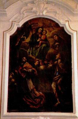 La Madonna del Carmine con Sant' Antonio da Paola, San Carlo Borromeo e San Giacomo Apostolo