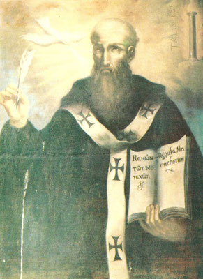 San Basilio Abate (tela proveniente dal Patirion)