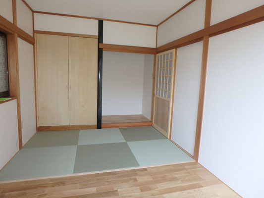新しく仏間 和室への入り口建具も新調