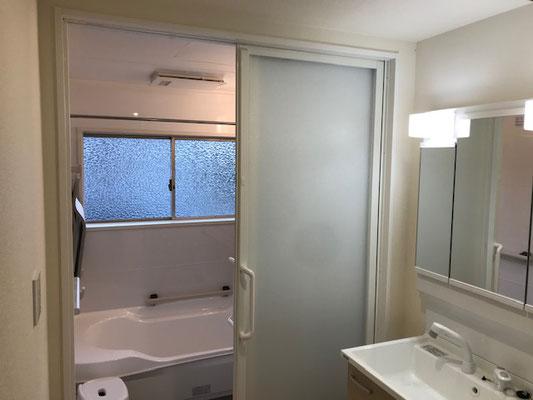 クリナップの浴室を採用 洗面脱衣室もリフォーム