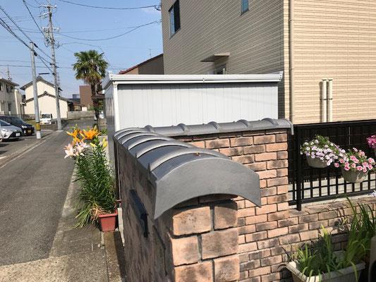 塀の瓦補修
