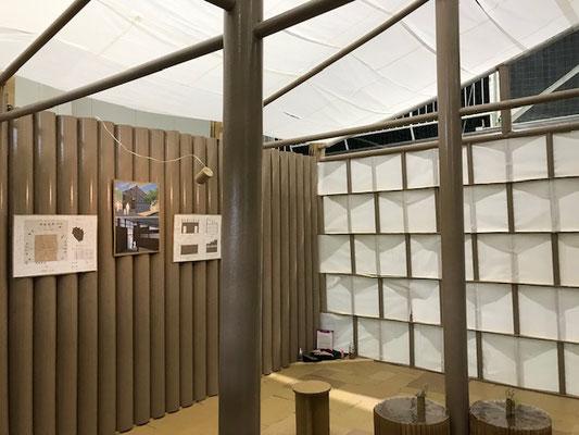 紙管による建物内装