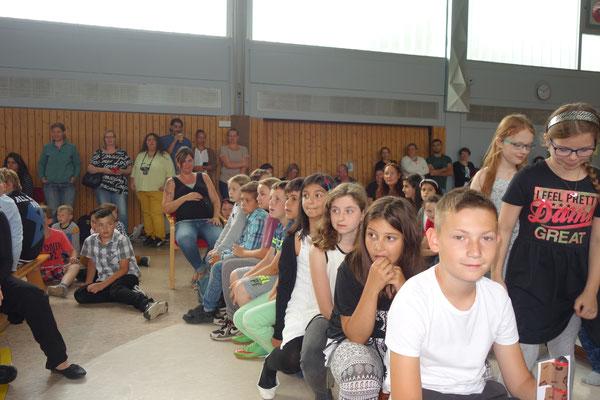 Klasse 4b bei der Verabschiedungsfeier