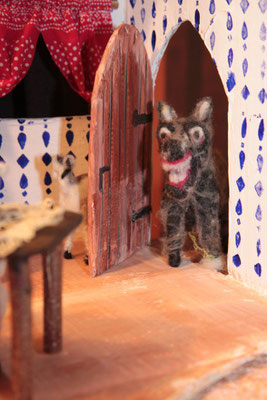 Die Geißlein machen dem Wolf die Türe auf