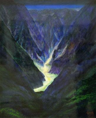 田中邦子  (群馬)    グランプリ 『残雪』 油彩