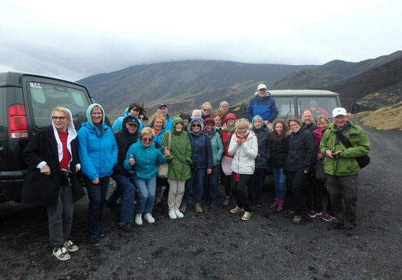 : DIG-Gruppe auf Entdeckungstour auf dem Ätna (Sizilien-Studienreise 2018)