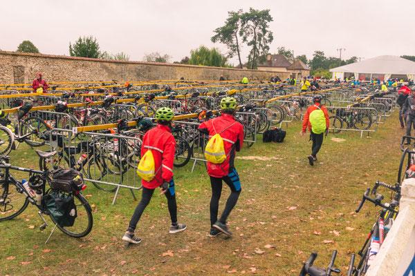 Fahrradparkplatz à la Paris-Brest-Paris