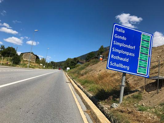 Auffahrt zum Simplonpass