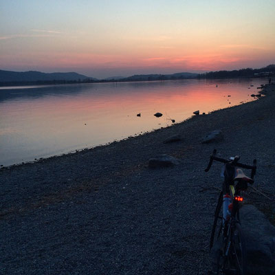 Sonnenuntergang bei Radolfzell