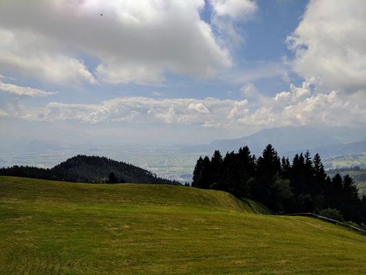 Wunderbarer Ausblick ins Rheintal von St. Anton