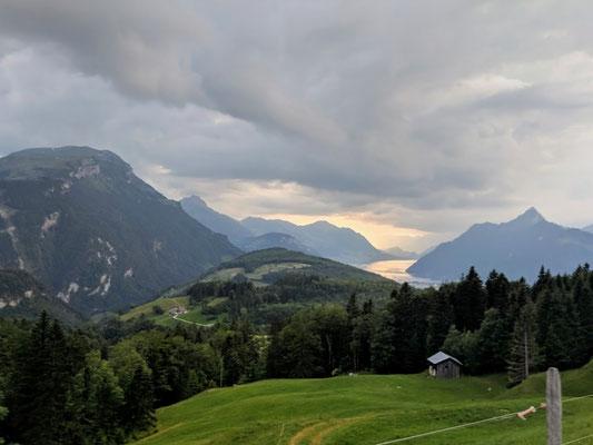 Aussicht vom Ibergeregg zum Vierwaldstättersee