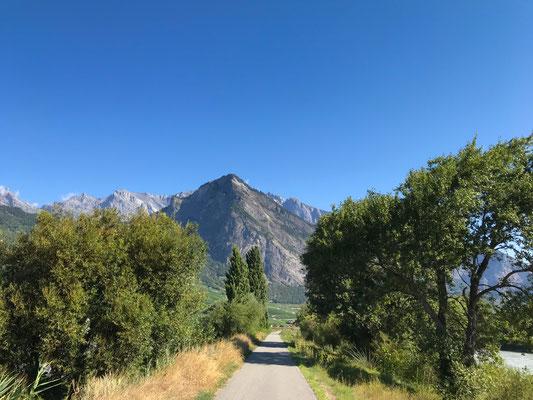 Radweg im Rhonetal