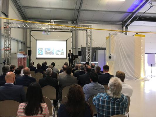 Vortrag von Herr Dr. Gasser (ILT, Aachen) über die EHLA Technologie - eine neue Dimension des Laserauftragschweißens