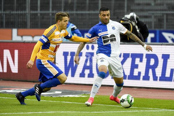 Filip Ugrinic (Luzern) gegen Alves dos Santos Caio (GC) sast-photos