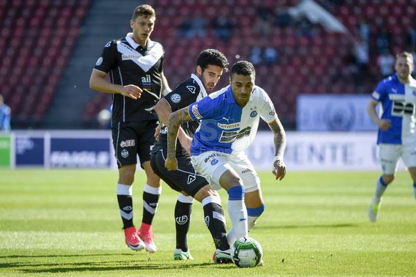 Alves dos Santos Caio (GC) gegen Eray Cuemart (Lugano) sast-photos