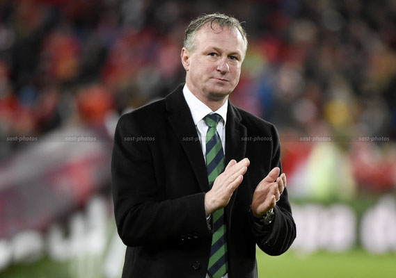 Manager Michael O Neill (NIR) after the Game (Sandro Stutz/sast-photos)