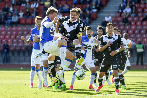 Emil Bergstroem (GC) gegen Fulvio Sulmoni (Lugano) sast-photos
