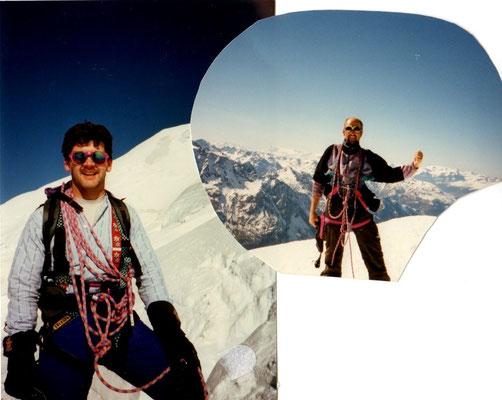 07. April 1997 Weissmies 4023m mit Martin