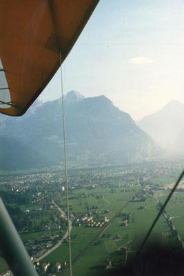 Flug über das Reussdelta