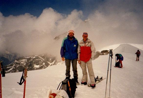 7. Mai 1990 Alphubel 4206m mit Peter Suter