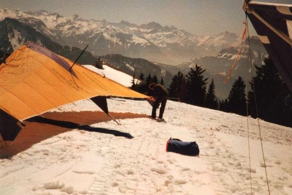 Winterflug auf der Handgruobi