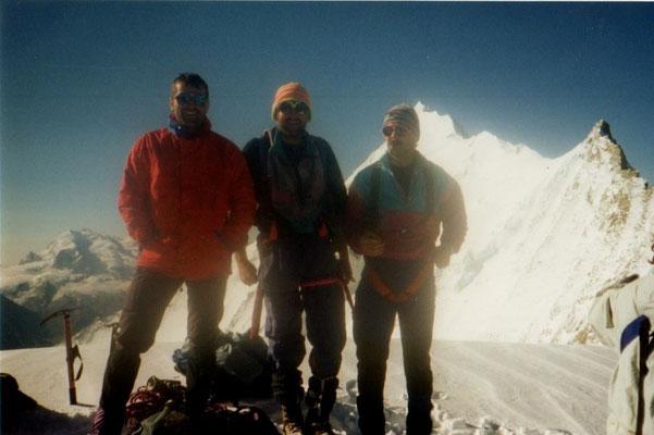 4. August 1996 Bishorn 4153m mit Franz Aschwanden und Martin Wigger