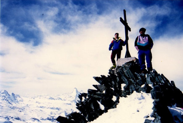 23. März 1997 Allalinhorn 4027m  mit Walter Pfeifhofer