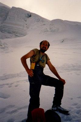 6. Mai 1990 Allalinhorn 4027m (über die Längflueh) mit Peter Suter
