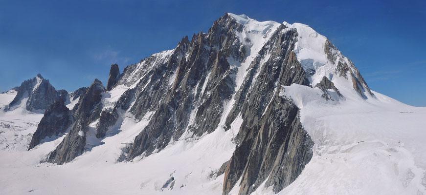 29. August 1998 Mont Blanc de Tacul 4248m mit Philippe, Franz und Walo