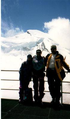1. Juli 2001 Allalinhorn 4027m mit Irène Aschwanden und Peter Näf