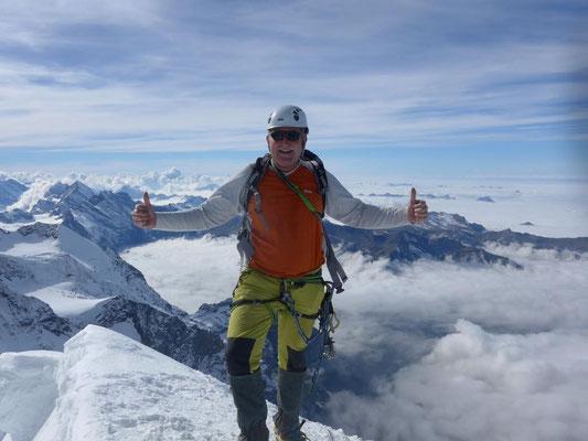 27. September 2015 Mönch 4107m über den Südwestgrat mit Franz