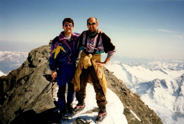 08. April 1997 Strahlhorn 4190m mit Martin