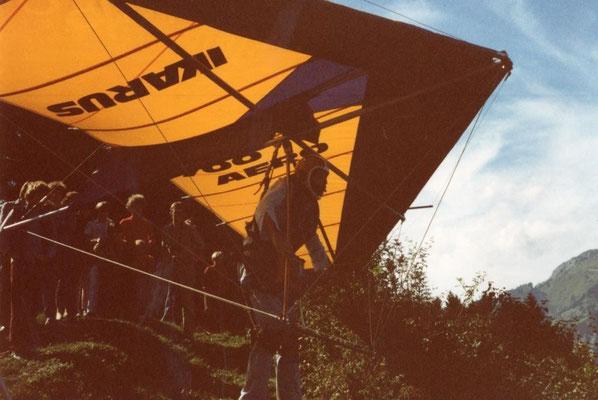 Prüfungsflug am 4. Dezember 1983